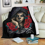 Darkside Sugar Skull Throw Blanket - Hello Moa