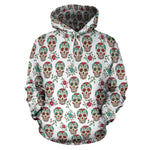 White Skull Hoodies - Hello Moa