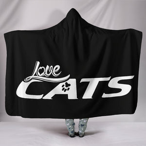 Love Cats Hooded Blanket - Hello Moa