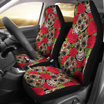 Rose Sugar Skull Car Seat Covers