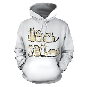Funny Cat IV Hoodie - Hello Moa