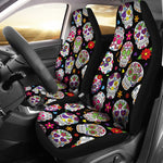Colorful Sugar Skull Car Seat Covers