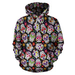 Multi-Colored Skull Hoodies - Hello Moa