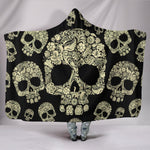 Sugar Skull Hooded Blanket - Hello Moa