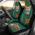 Yellow Cat Car Seat Cover - Hello Moa
