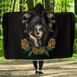 Skull Flower Hooded Blanket - Hello Moa