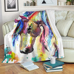 Watercolor Horse Blanket
