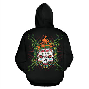 Crown Sugar Skull Hoodies - Hello Moa
