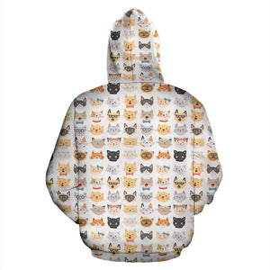 Cat Faces II Hoodies - Hello Moa
