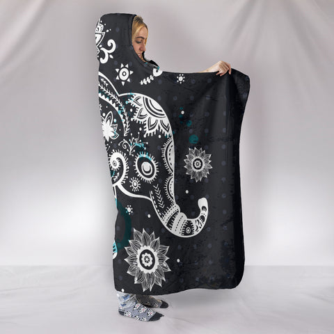 Image of Elephant Hooded Blanket
