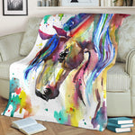 Watercolor Horse Blanket - Hello Moa