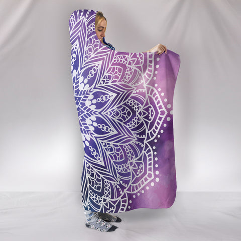 Image of Yoga Mandala II Hooded Blanket