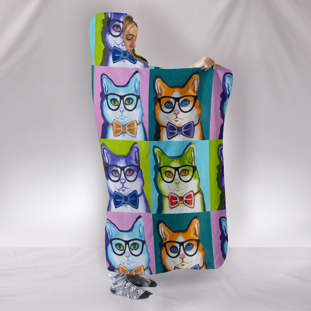 Funky Cat Hooded Blanket - Hello Moa
