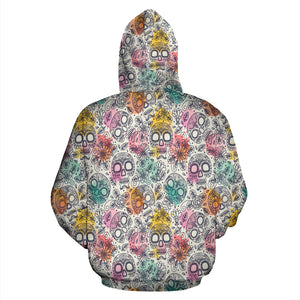 Watercolor Skull Hoodies