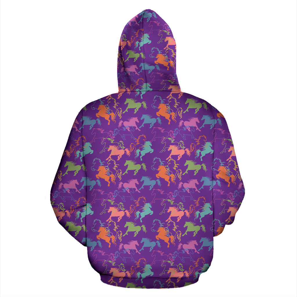 Purple Horse Hoodies