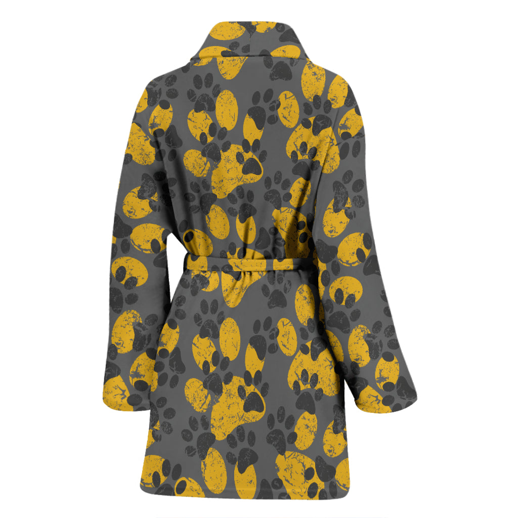 Cat Paw Print Bath Robe - Hello Moa