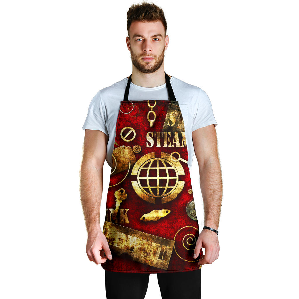 Red Steampunk Apron - Hello Moa