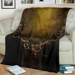 Steampunk Vintage Throw Blanket - Hello Moa