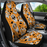 Orange Sugar Skull Car Seat Covers - Hello Moa