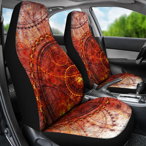 Steampunk Circles Car Seat Covers - Hello Moa