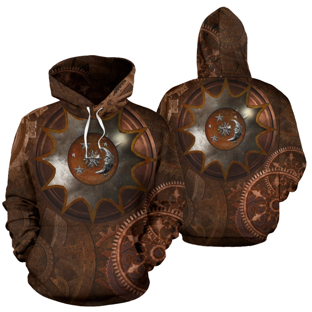 Steampunk Moon Hoodies - Hello Moa