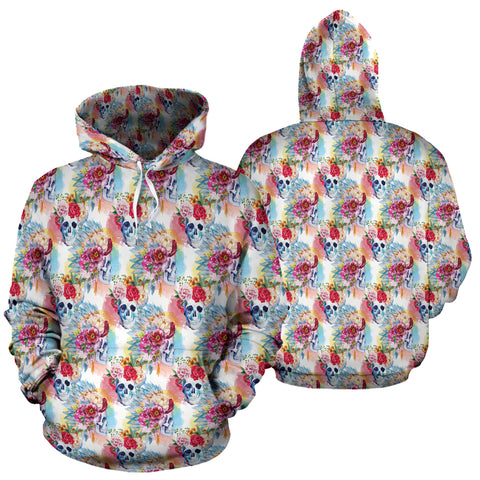Image of Floral Skull Hoodies