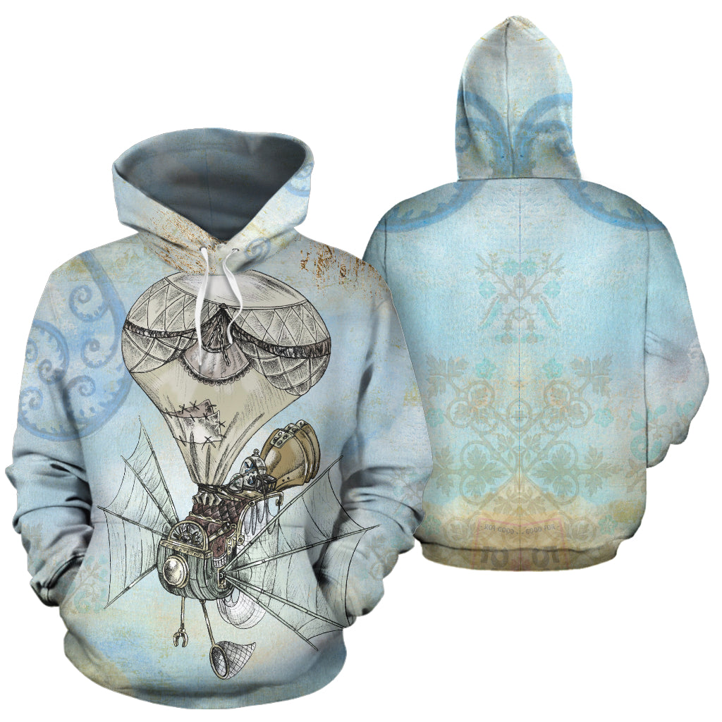 Steampunk Airplane Hoodies - Hello Moa
