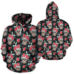 Red & Black Skull Hoodies - Hello Moa