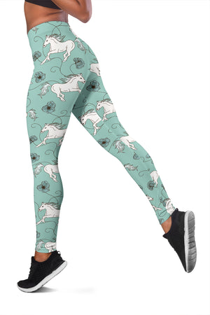 Green Horse Leggings - Hello Moa