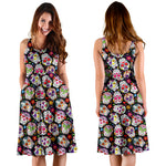 Multi Colored Sugar Skull Dress - Hello Moa