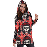 Calavera Women's Hoodie Dress