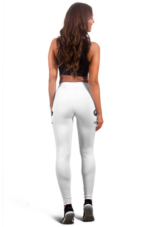 Mother Foal Horse Leggings (White) - Hello Moa