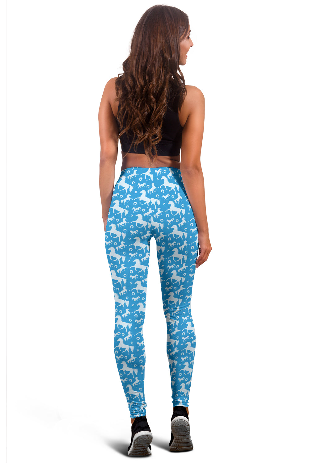 Blue Horse Leggings - Hello Moa