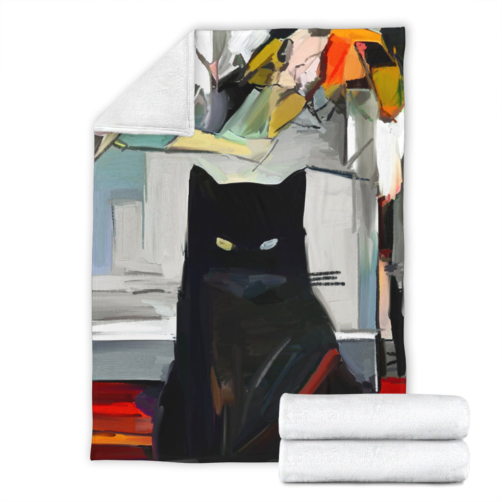 Black Cat Blanket - Hello Moa