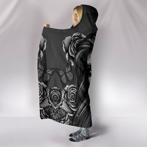 B&W Calavera Hooded Blanket - Hello Moa