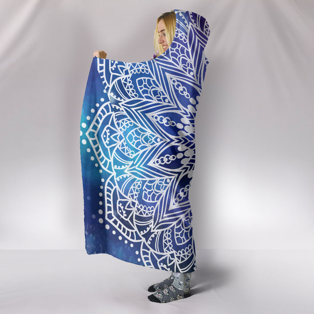 Yoga Mandala II Hooded Blanket - Hello Moa