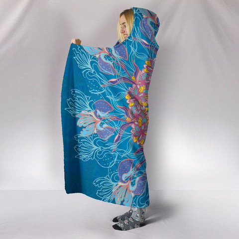 Image of Cosmic Flower Hooded Blanket
