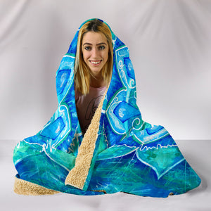 Blue Mandala Hooded Blanket
