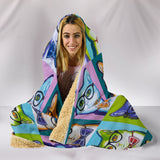 Funky Cat Hooded Blanket