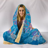 Cosmic Flower Hooded Blanket