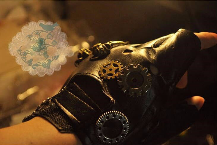 Vintage Steampunk Gear Gloves - Hello Moa