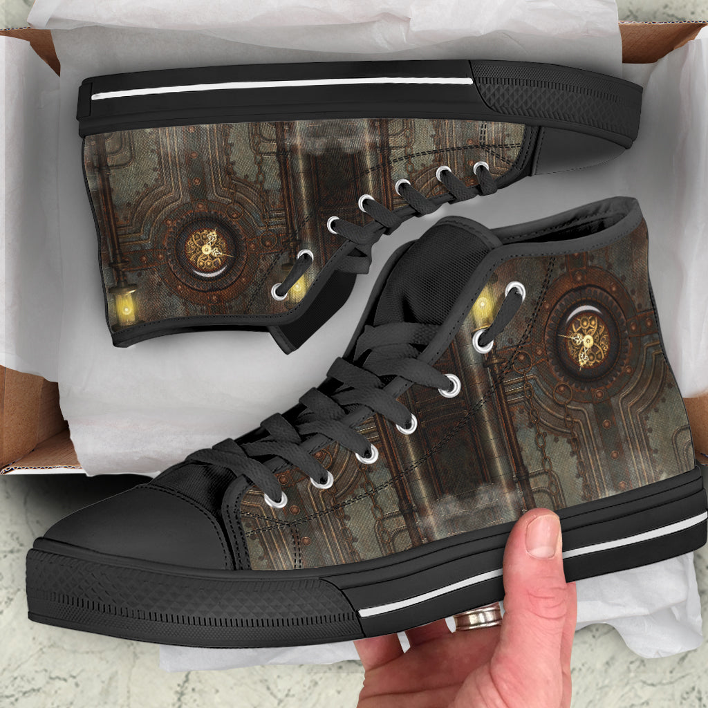 Gas Clock Steampunk Canvas Shoes - Hello Moa
