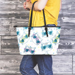 Happy Cat Leather Tote Bag