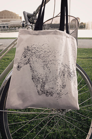 Galloping Horse Cloth Tote Bag