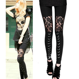 Lace or Chain Gothic Leggings
