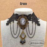 Vintage Black Lace Necklace