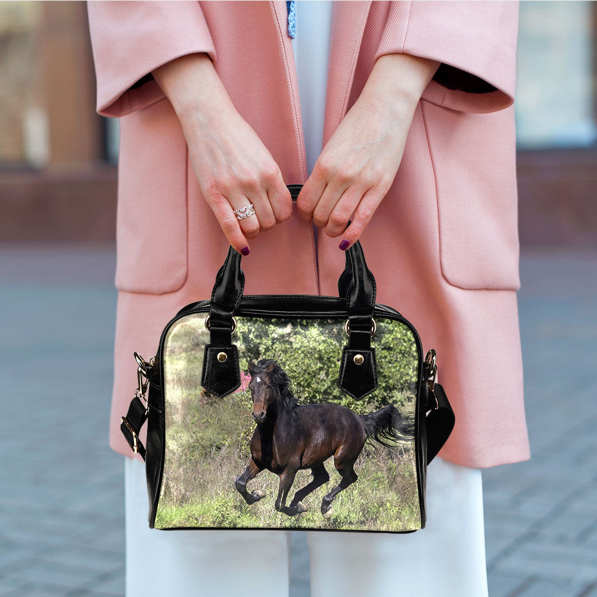 Horse On Grass Handbag - Hello Moa