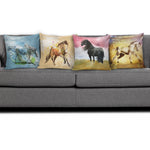Horse Art IV Pillow Covers