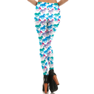 Watercolor Horse Leggings - Hello Moa