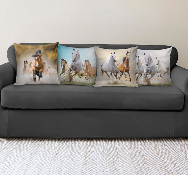 Running Horses Pillow Covers